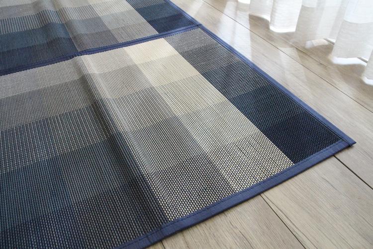 竹ラグ  カスケード natural taste bamboo rug ブルー