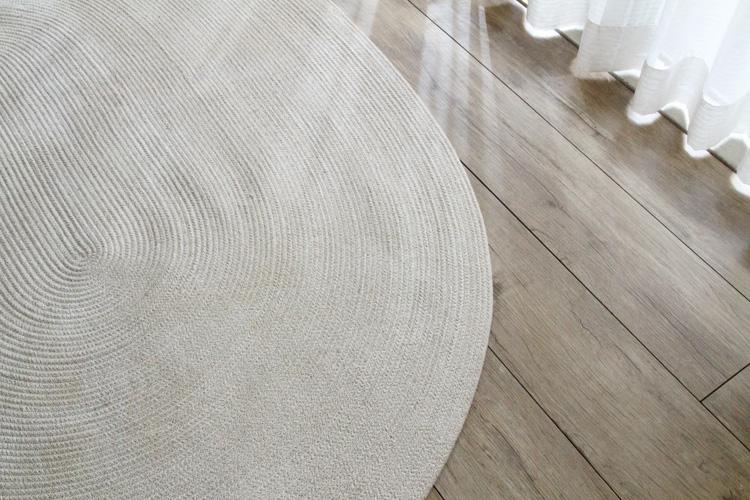 ヘリンボンテイスト コットンラグ 130×180cm楕円形